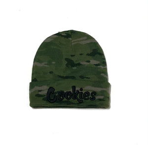 "COOKIES ""BACKCOUNTRY"" BEANIE (GREEN CAMO)"