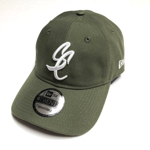 "SFC ""SC SCRIPT"" NEW ERA DAD HAT (OLIVE GREEN)"