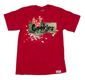 "COOKIES ""BACKCOUNTRY LOGO"" TEE (RED)"