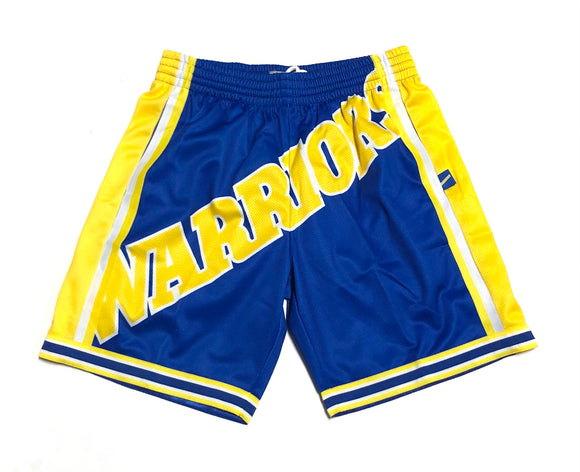"MITCHELL & NESS ""BLOWN OUT"" GS WARRIORS SHORTS"
