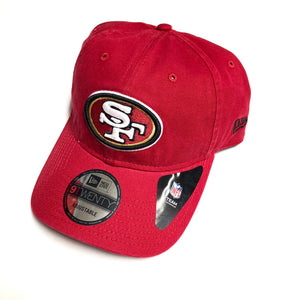 "NEW ERA ""BASIC"" SF 49ERS DAD HAT (RED)"