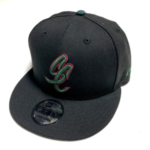"SFC ""SC SCRIPT"" NEW ERA SNAPBACK (BLACK/FOREST GREEN/RED)"