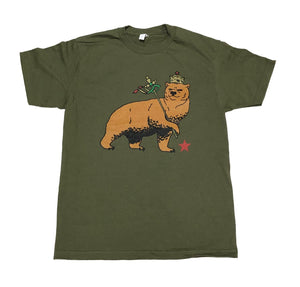 "SFC ""CA BEAR OF JUDAH"" TEE (ARMY GREEN)"