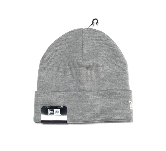 "NEW ERA ""BLANK SIDE LOGO"" KNIT CUFF BEANIE (GREY)"