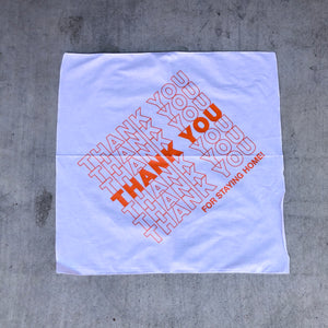 "SFC X COMPUTER ""THANK YOU"" BANDANA (WHITE/ORANGE)"