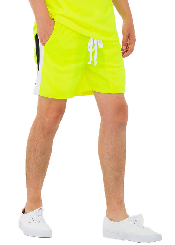 WEIV BLANK CHEVRON SHORTS (SAFETY GREEN)