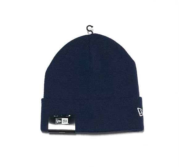"NEW ERA ""BLANK SIDE LOGO"" KNIT CUFF BEANIE (NAVY)"