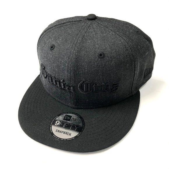 "SFC X NEW ERA ""OLD E"" SNAPBACK (HEATHER BLACK)"