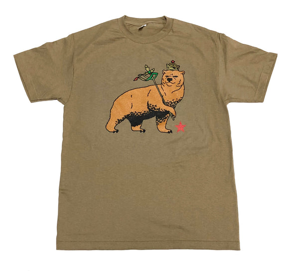 "SFC ""CA BEAR OF JUDAH"" TEE (SAFARI GREEN)"