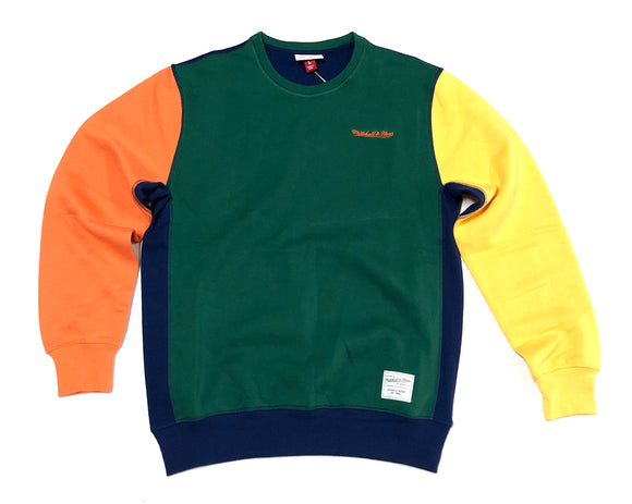 "MITCHELL & NESS ""COLOR BLOCK"" CREWNECK"