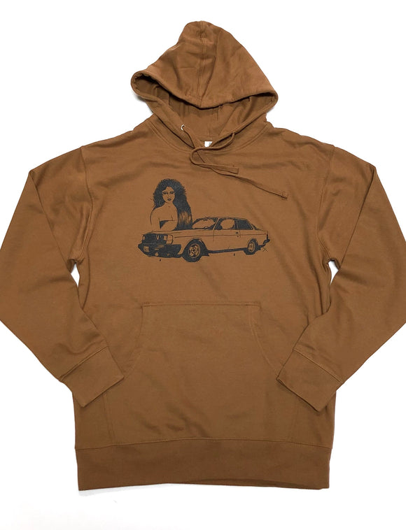 "GOER BRAND ""WILL YOU STILL"" HOODIE (SADDLE)"