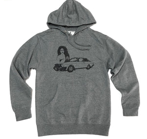 "GOER BRAND ""WILL YOU STILL"" HOODIE (GUNMETAL GREY)"