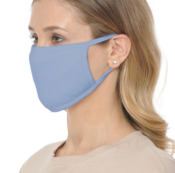 SOFT COTTON MASK W/ EAR LOOP (BLUE)