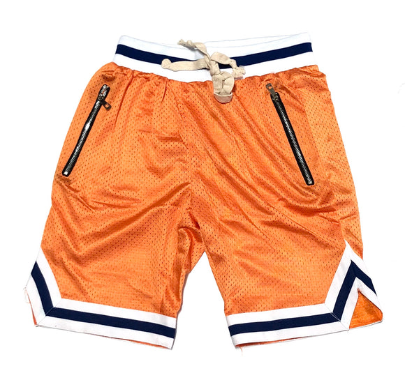 WEIV BLANK MESH SHORTS (ORANGE/BLUE)