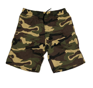 BLANK WOODLAND CAMO SWEAT SHORTS