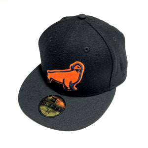 "NEW ERA ""SF SEALS"" NEW ERA FITTED (BLACK MELTON WOOL)"