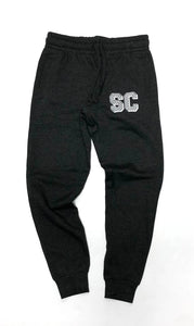 "SFC ""SC CHECK"" JOGGERS (CHARCOAL HEATHER/WHITE)"