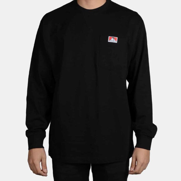 "BEN DAVIS ""LOGO"" HEAVY WEIGHT LONGSLEEVE POCKET TEE"