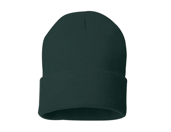 BLANK 12in CUFF BEANIE (FOREST)