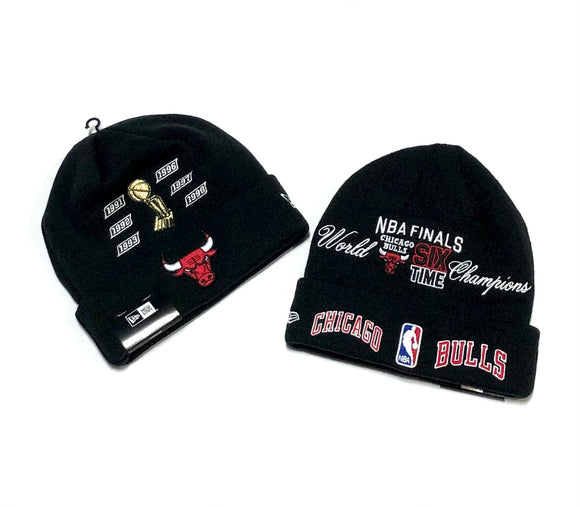 "NEW ERA ""CHAMP LOGOS"" CHICAGO BULLS BEANIE"
