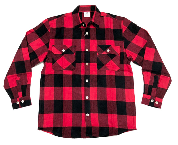 EXTRA HEAVYWEIGHT FLANNEL  SHIRT (RED)