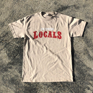 "SFC ""LOCALS 2.0"" TEE (TAN/RED/GOLD)"