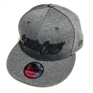 "SFC ""SANTA CRUZ SCRIPT"" NEW ERA SNAPBACK (GRAPHITE FLEECE)"