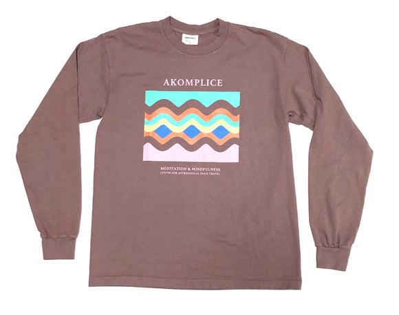 "AKOMPLICE ""ASTROLOGICAL TRAVEL"" LS TEE (MAUVE)"
