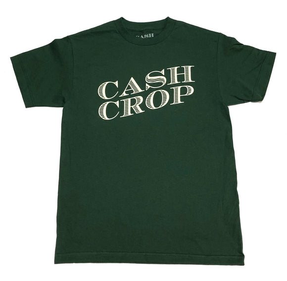 "CASH CROP ""LOGO"" TEE (DARK GREEN/TAN)"