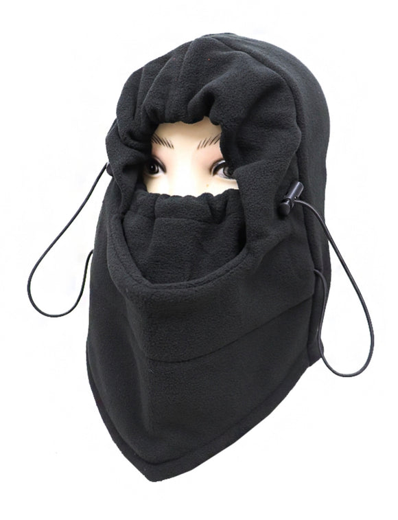 SKI MASK WITH ADJUSTABLE MOUTH COVER