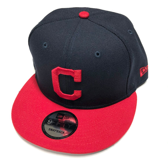 "NEW ERA ""BASIC"" CLEVLAND INDIANS SNAPBACK (NAVY)"