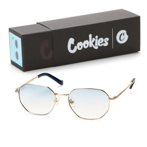 "COOKIES ""METAL HEXAGON FRAMED"" SUNGLASSES (BLUE)"