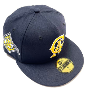 "NEW ERA ""CALIFORNIA ANGELS GOLDEN BEAR"" FITTED HAT (NAVY/GOLD)"