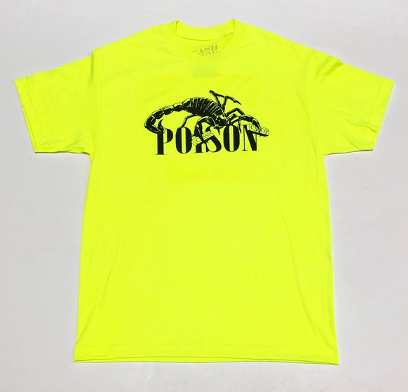 "CASH CROP ""POISON"" TEE (SAFETY GREEN)"