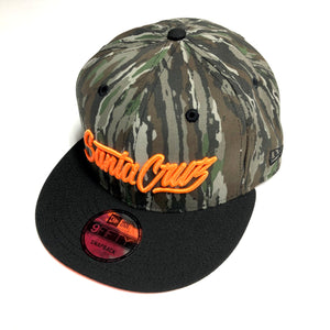"SFC ""SANTA CRUZ SCRIPT"" NEW ERA SNAPBACK (REAL TREE/ORANGE)"