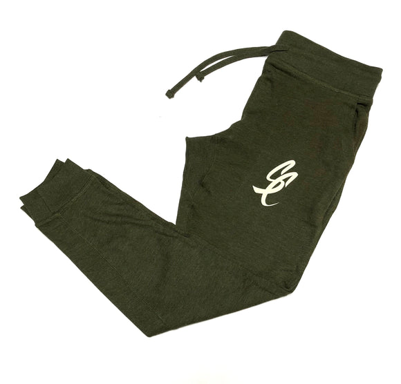"SFC ""SC SCRIPT"" FRENCH TERRY JOGGERS (ARMY HEATHER)"
