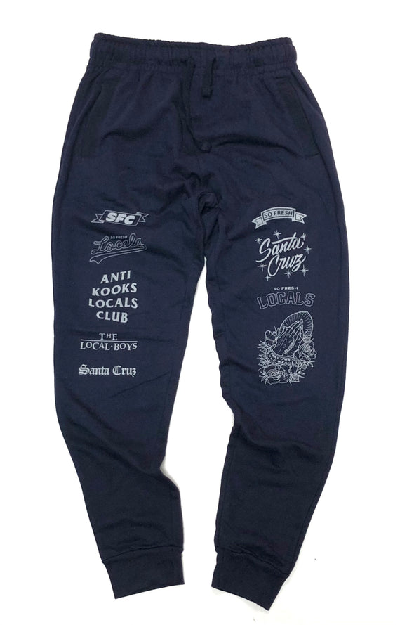 "SFC ""LOCALS ONLY"" JOGGERS (NAVY BLUE/GREY)"