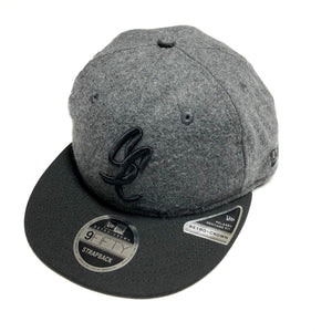 "SFC ""SC SCRIPT"" NEW ERA UNSTRUCTURED SNAPBACK (MELTON WOOL/BLACK)"