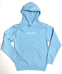 "THE DRINK CO ""WATER"" HOODIE (LIGHT BLUE"
