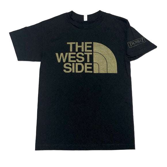 "TROUBLEZ ""THE WEST SIDE"" TEE (BLACK/GOLD)"