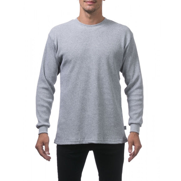 PRO CLUB HEAVY WEIGHT L/S TEE (HEATHER)