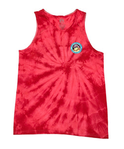 "THRILLA KREW ""DA BOYS"" TANK (RED TIE DYE)"