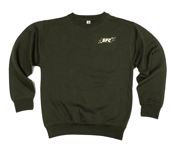 "SFC ""LOCALS ONLY"" CREWNECK (ARMY GREEN/KHAKI)"