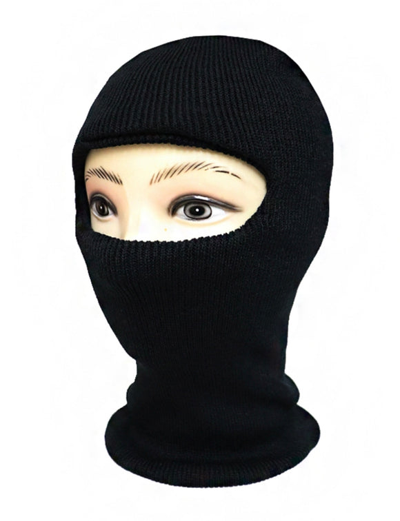 SINGLE HOLE ARCYLIC SKI MASK (BLACK)