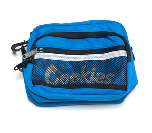 "COOKIES ""VERTEX"" SMELL PROOF CROSSBODY BAG (BLK/BLUE)"
