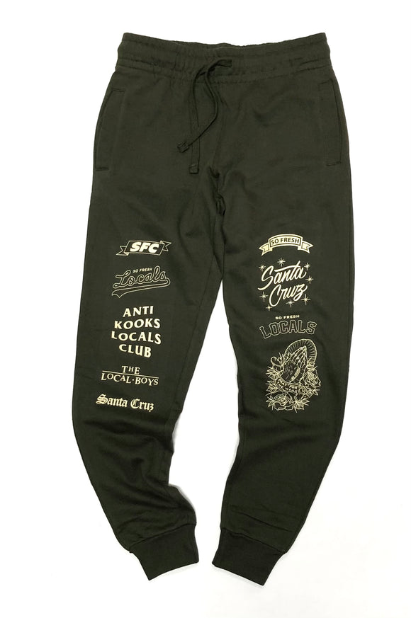 "SFC ""LOCALS ONLY"" JOGGERS (ARMY GREEN/KHAKI)"