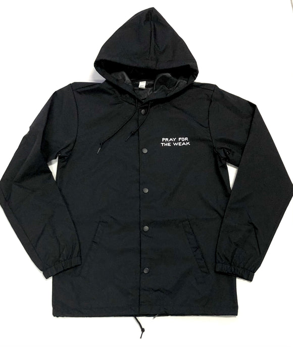 "SFC ""PRAY FOR THE WEAK"" HOODED COACHES JACKET"