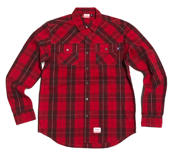 "COOKIES ""FRESH DAILY"" LS BUTTON UP (RED)"