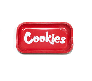"COOKIES SF ""MEDIUM"" METAL ROLLING TRAY (RED)"