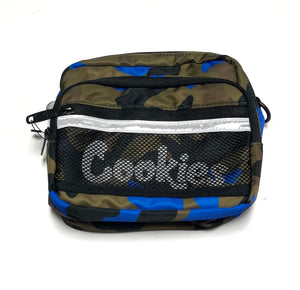 "COOKIES ""VERTEX"" SMELL PROOF CROSSBODY BAG (BLUE CAMO)"